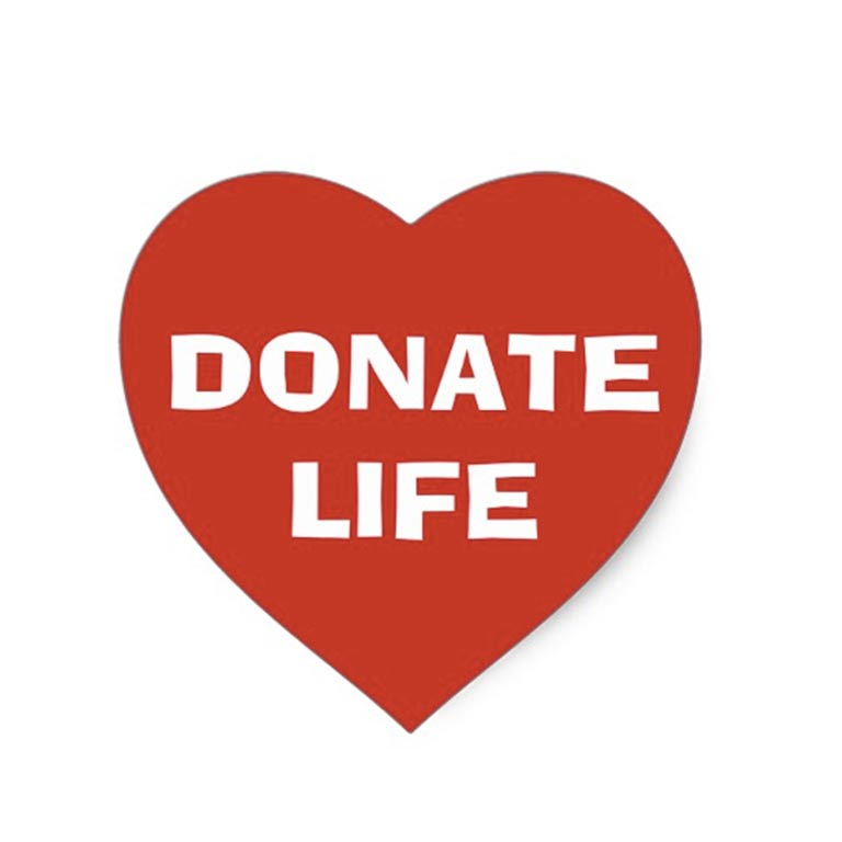 Heart logo, Donate Life
