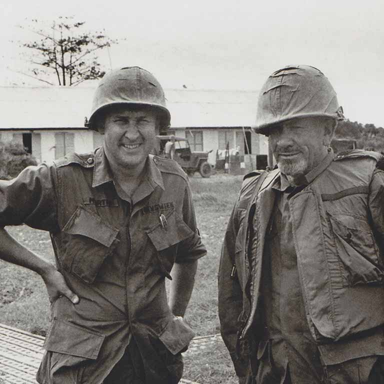 Everett G. Martin in Saigon during the war in Vietnam